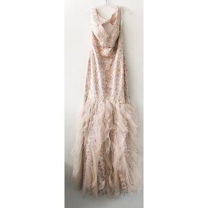 Jovani 88243A Blush Mermaid Dress size 10